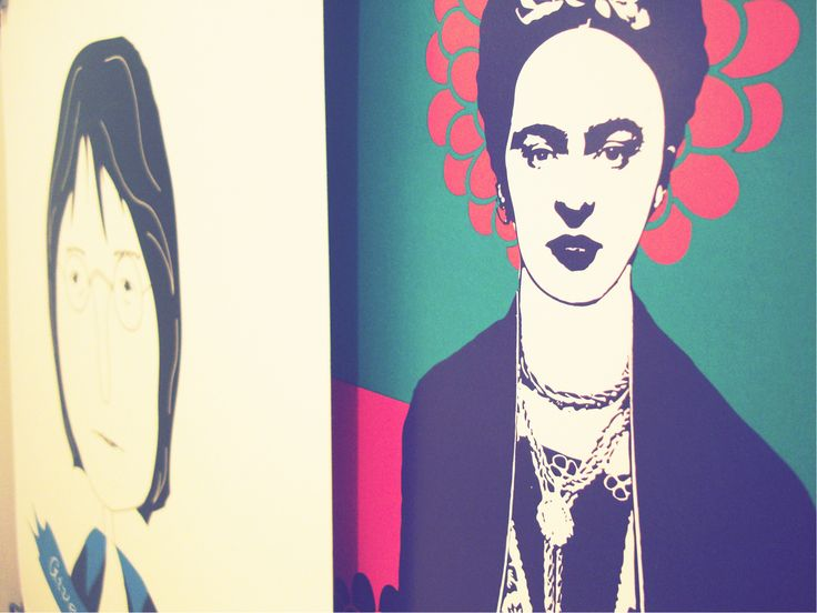 Art prints by Rooftop. John Lennon • Frida Kahlo. #artprints #homedecor #Johnlennon #fridakahlo #illustrations #etsy #etsygreekstreatteam
