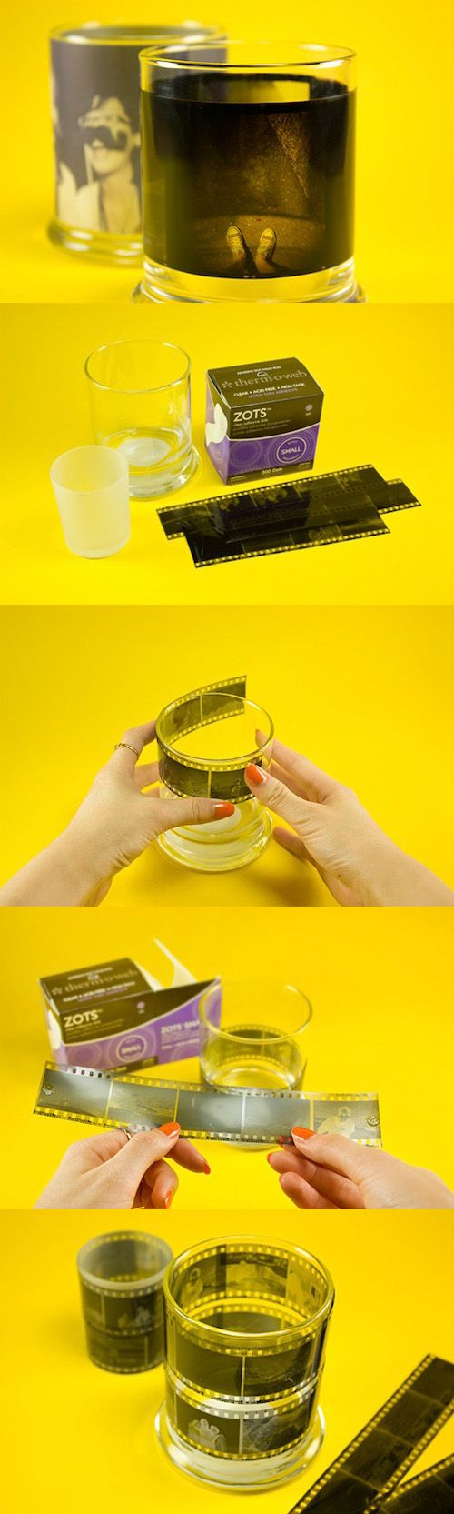DIY alert! Make a film candle votive that throws pictures made of light in just 3 easy steps! Click through for detailed instructions.