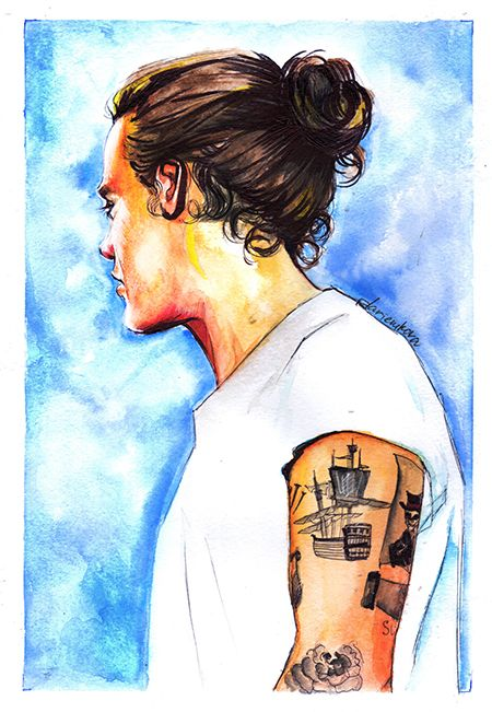 Harry Styles by dariemkova.deviantart.com on @DeviantArt
