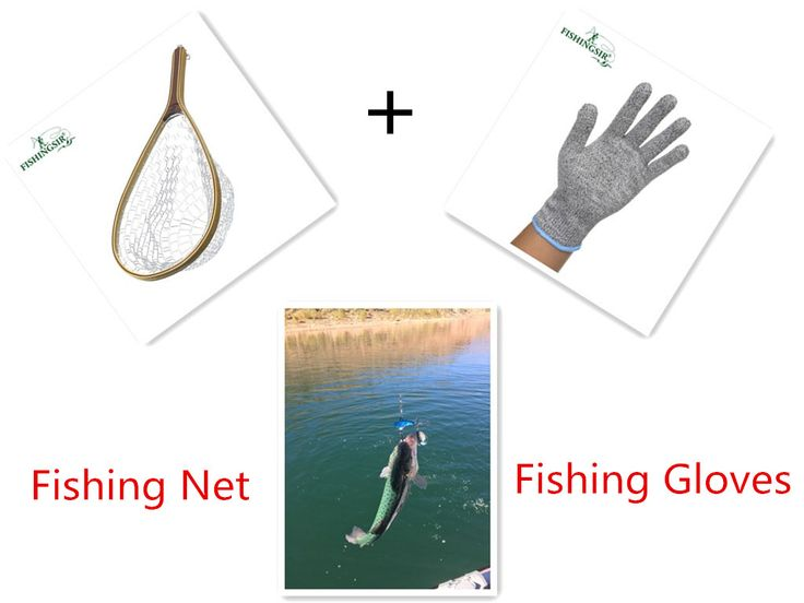 Winter Fly Fishing Landing Net Mesh+Soft Winter Fishing Gloves Anti-slip Ski Gloves Carp Pesca Tackle Accessories for Ice Peche