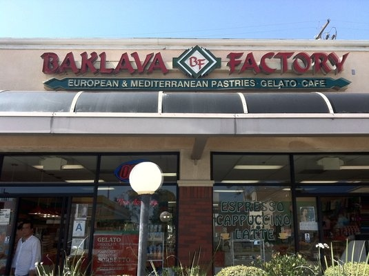 """The Baklava Factory (various locations in SoCal), or as I like to call it The Climax Factory.  The first time I ate a baklava here, I made a protracted """"O"""" face and jizzed my pants.  Every shape, style, size, and flavor baklava you can conceive of and not, is here for making of the love to your mouth, yes?  Its as if Willa Wonka were born a Lebanese pornstar.  Would I rather eat baklava here or have sex?  I would choose sex, but I had to think it over for a few seconds."""