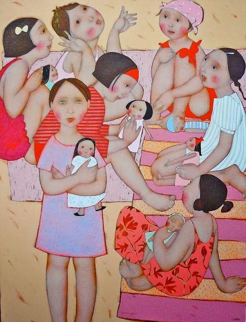 miradadebruja: Cécile Veilhan, como lo viven las mujeres...