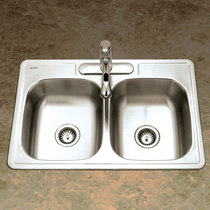 Houzer Kitchen Sink Double Bowl X Stainless
