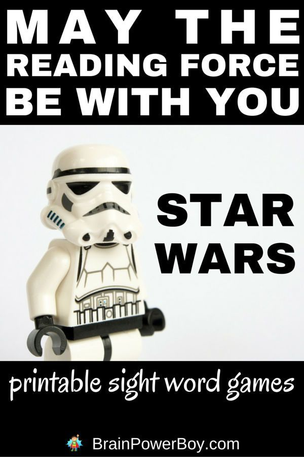 Looking for some fun and free sight word games to play? Try these Star Wars printable sight words games! Break out the lightsabers, grab some sight word lists and have a galactic blast learning to read. Click image to see the games