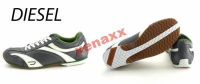 Nowe skórzane sneakersy damskie   Logo marki, spód obuwia nazwa marki Podeszwa gumowa Przeszycia Wyściólka i zapiętki wykonane z materiału tekstylnego Buty przeznaczone do codziennego użytku        Kolor - ciemny szary, biały, zielony 100% oryginalne   Rozmiar - 40 długość wkładki - 25,5 cm