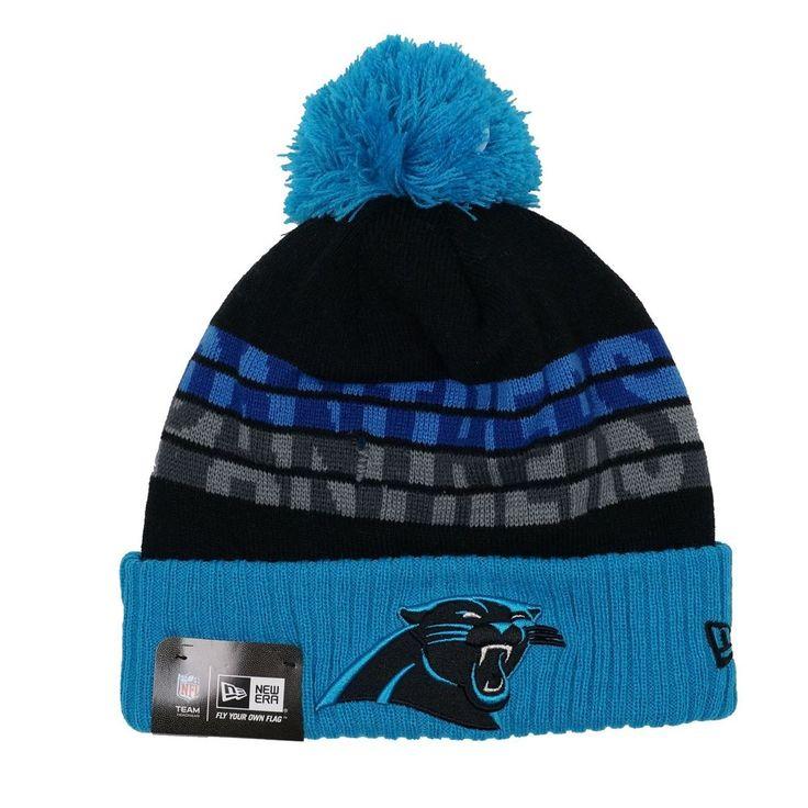 NFL New Era Carolina Panthers Knit Pom Top Cuffed Beanie Tone Freeze   #NewEra