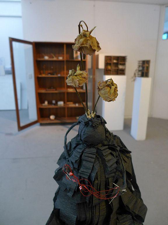 three sisters mixed medium sculpture