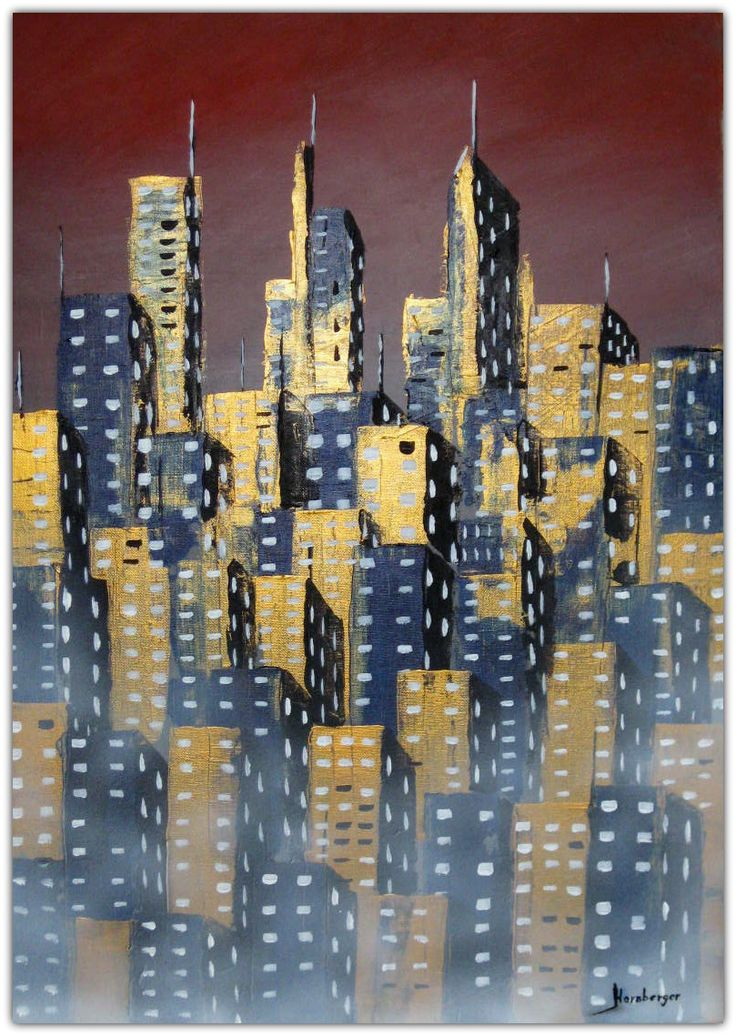 Acryl/Leinwand 50 cm x 70 cm x 1,5 cm Preis über PN  Downtown