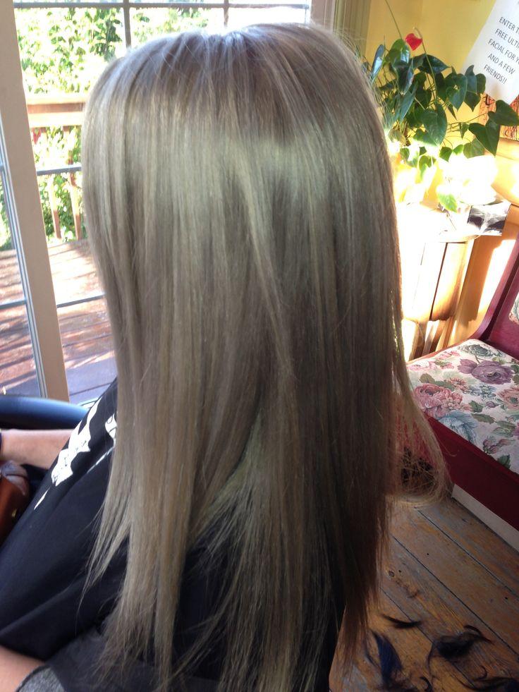 Blondegrey Toned Hair Hair Styles Pinterest