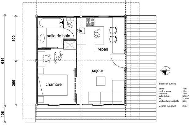 amenagement maison 50m2 au sol