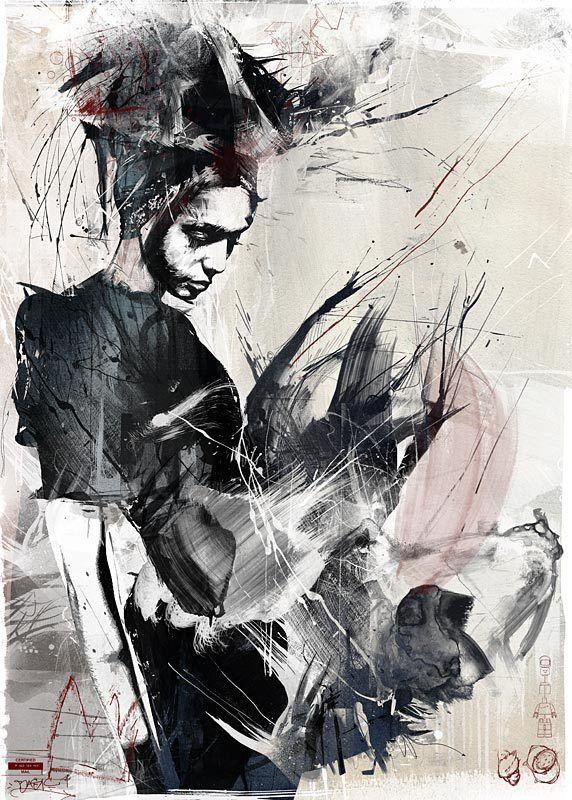Russ Mills: Artists, Art Illustrations, Russe Mills, Prints Matter, Art Prints, Human Natural, Behance Network, Painting, Design Blog