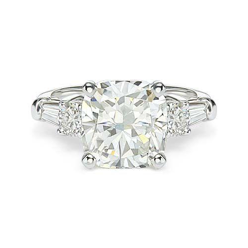 3.76 ct D VS2 CUSHION CUT DIAMOND ENGAGEMENT RING 14k http://www.larrysfinejewelryinc.com/