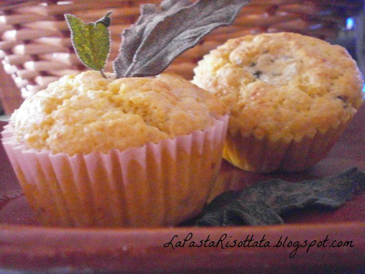 La Pasta Risottata: Muffins di farina di mais e gorgonzola