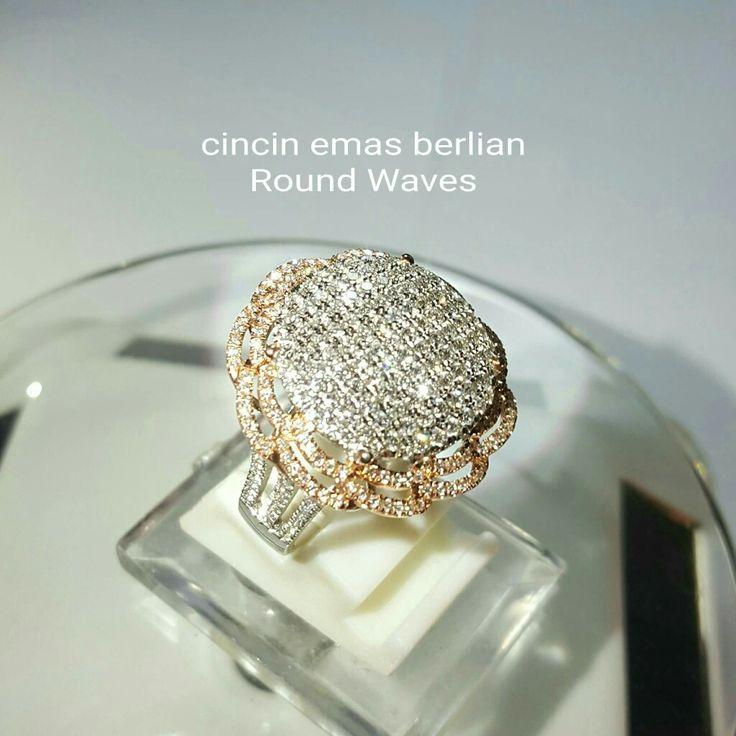 New Arrival. Cincin Emas Berlian Round Waves Style.   Toko Perhiasan Emas Berlian-Ammad +6282113309088/5C50359F Cp.Antrika.  https://m.facebook.com/home.php #investasi#diomond#gold#beauty#fashion#elegant#musthave#tokoperhiasanemasberlian