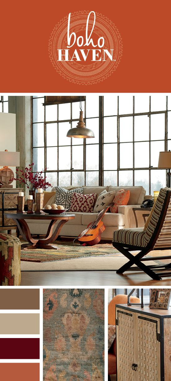 Boho Haven - Living Room Furniture - Relaxed, Casual, Free Spirited Style -