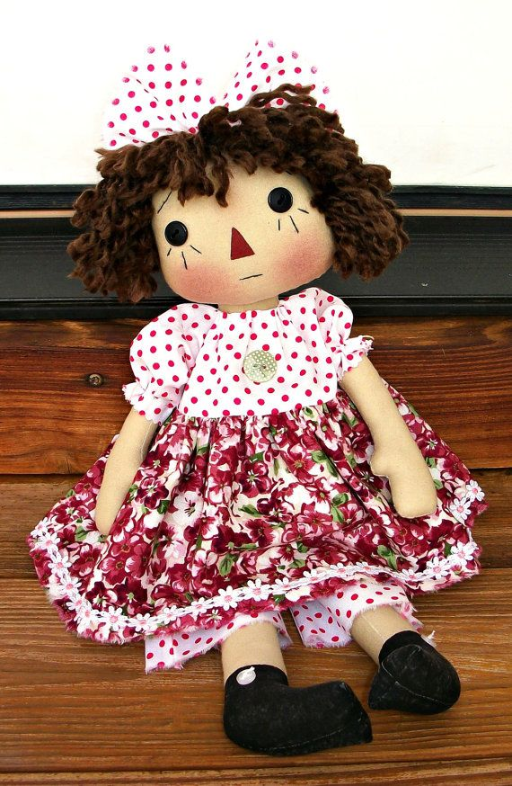 Primitive Raggedy Chantilly Doll PDF E Pattern  by Donna of appleorchards on Etsy: Raggedys Ann, Adorable Dolls, Rag Dolls, Rag, Raggedy Dolls, Ann Dolls, Poupées Raggedys, Annie Doll