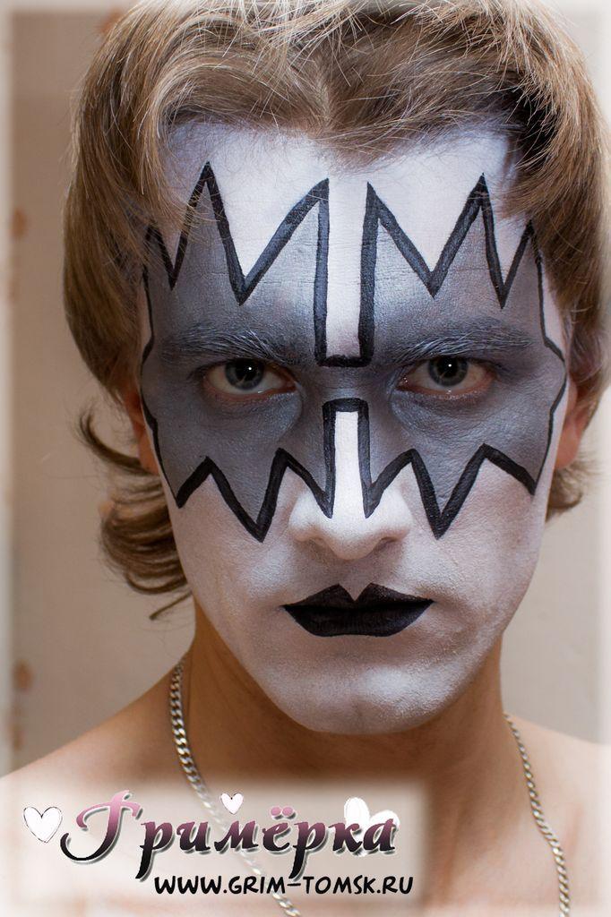 Аквагрим, грим, Группа KISS. Космонавт (Эйс Фрейли и Томми Таер) face painting, make-up, Group KISS. The Spaceman (Ace Frehley and Tommy Thayer)
