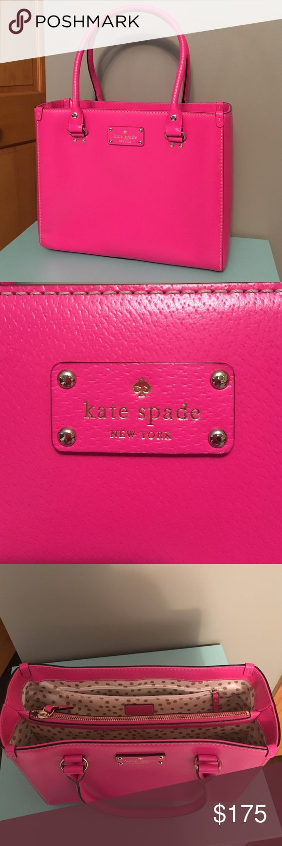 "FINAL SALE PRICE Kate Spade Wellesley Purse Perfect condition Kate Spade Wellesley Purse.  Measures 11.5"" W x 9.5"" H x 4.5"" D. kate spade Bags"