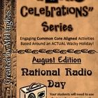 Ever heard of National Radio Day? Most people haven't. This wacky celebration is the first in a series of 10 Wacky Celebration kits.   Students will think its a party, but they will still be meeting reading/writing/math/science skills (and more). With 13+ activities aligned to the US Common Core standards, this is sure to be a hit in your classroom for years to come! ($)