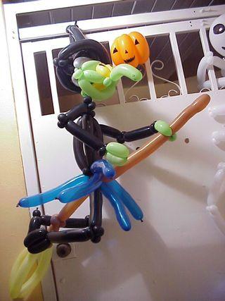 halloween witch balloon sculpture