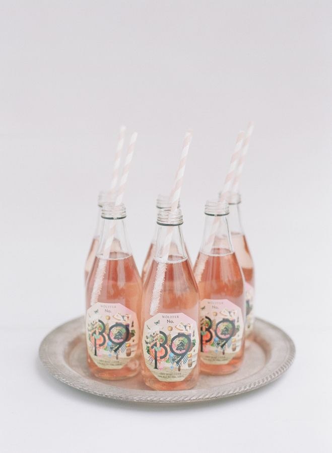 It is always fun when fizzy drinks are involved: http://www.stylemepretty.com/2016/12/27/charming-garden-floral-wedding/ Photography: Annie Mcelwain - http://www.anniemcelwain.com/book/i and Raya Carlisle - http://www.rayaphotography.com/