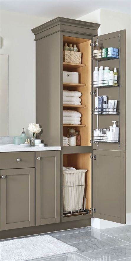 An organized bathroom vanity is the key to a less stressful morning routine! Che…