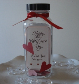 valentine's day jar pinterest