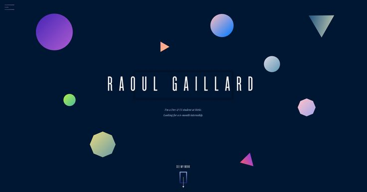 Portfolio of Raoul Gaillard. Paris based interactive designer and developer.      Currently student in fourth year at HETIC and looking for a 6-month internship.