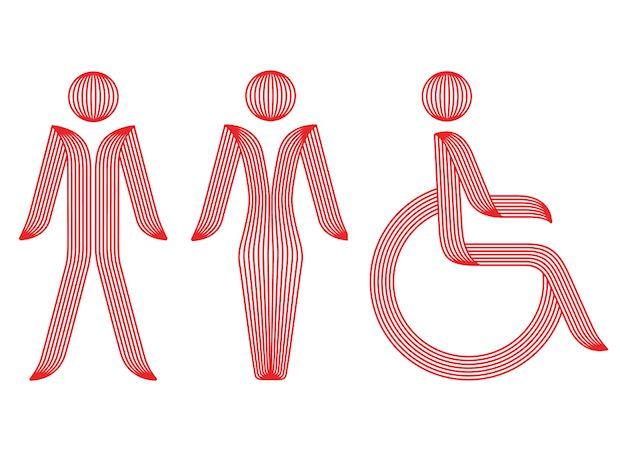 「スカートを履かない」女性用ピクトグラム