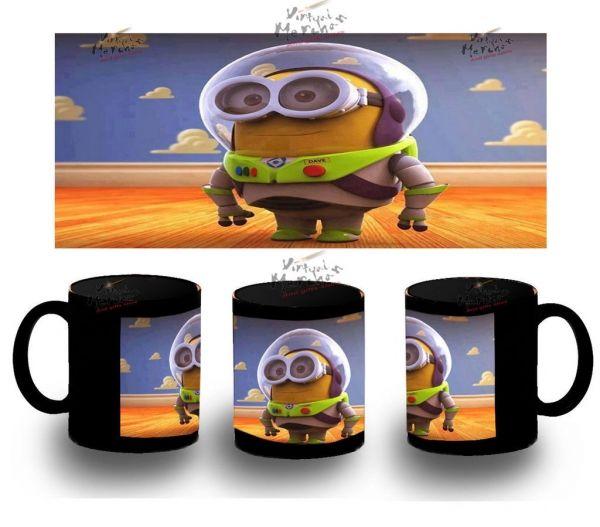 Taza Negra Buzz Lightyear Minions Gru Minion Calamaro Niño Mug Tazza Tasse Coupe - Bekiro