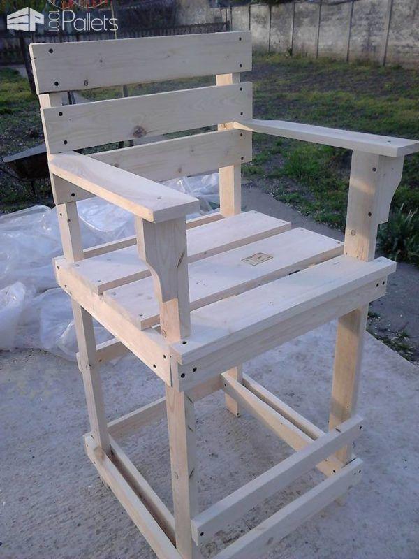 Pallet Bar Stool / Tall Bar Chair bancos de paletes, cadeiras de paleta e bancos