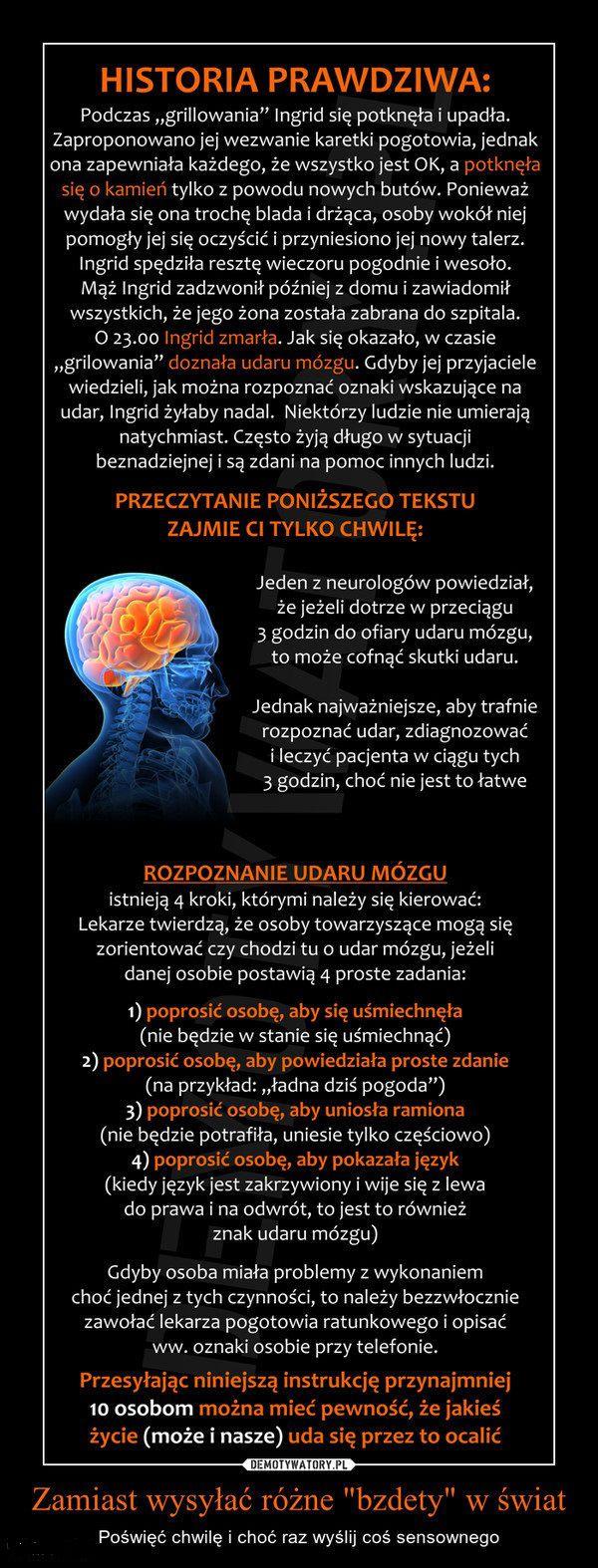 Udar mózgu.