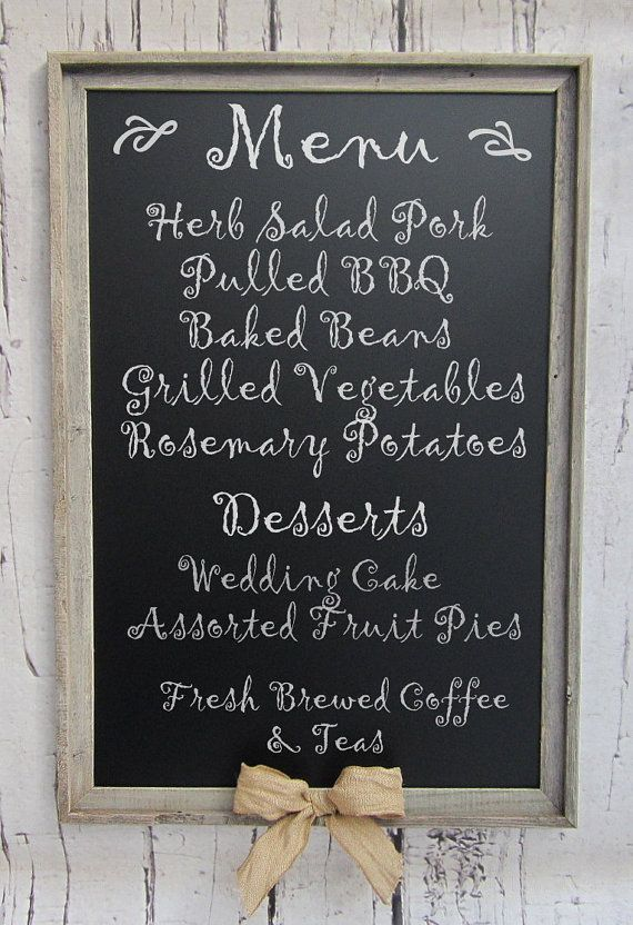 "RUSTIC WEDDING DECOR Chalkboard Magnetic 39""x27"" Rustic Outdoor Wedding Decor Barnwood Burlap Farmhouse Kitchen Decor Perfect Wedding Gift on Etsy, $171.34 AUD"