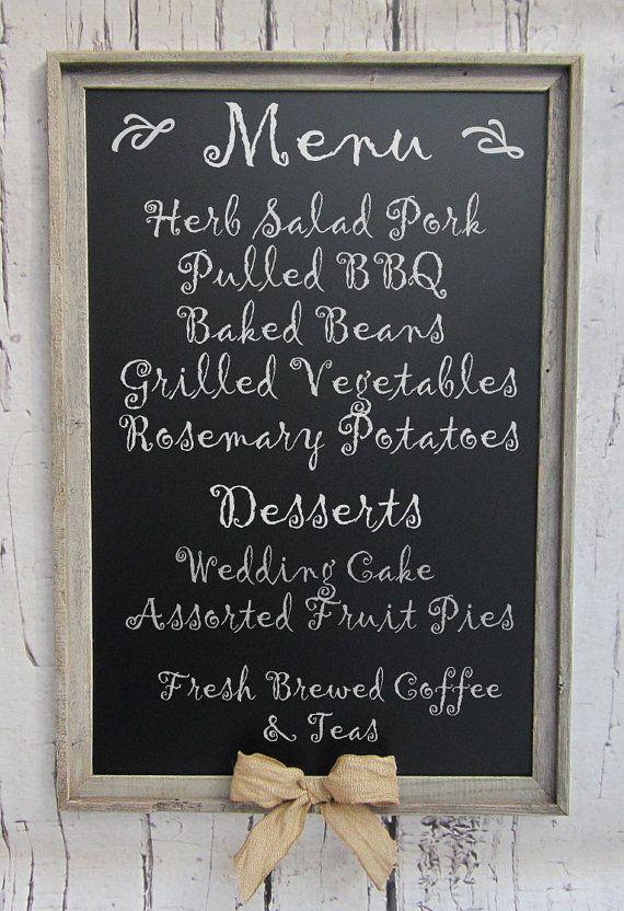 "RUSTIC WEDDING DECOR Chalkboard Magnetic 39""x27"" Rustic Outdoor Wedding Decor Barnwood Burlap Farmhouse Kitchen Decor Perfect Wedding Gift on Etsy, $171.34 AUD"