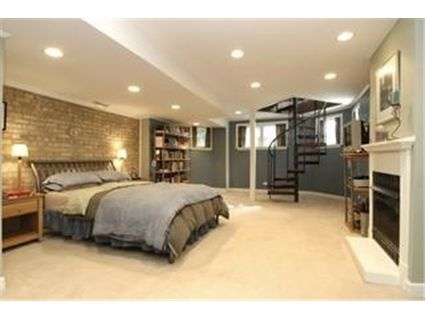 basement bedroom hmmm spiral staircase might be an idea for a