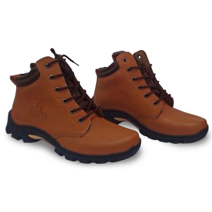 Sepatu Boots Pria / Coklat-Hitam / Mens Boots