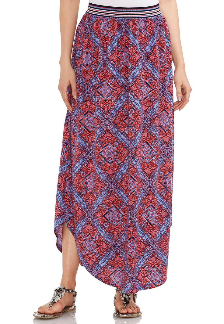 Shirt Tail Hem Maxi Skirt Skirts Cato Fashions
