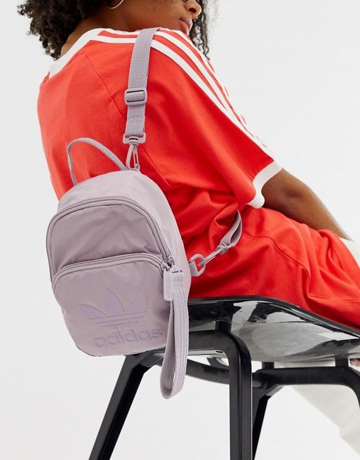 adidas Originals Sleek mini backpack in purple in 2019  ddc9d5dfa058e