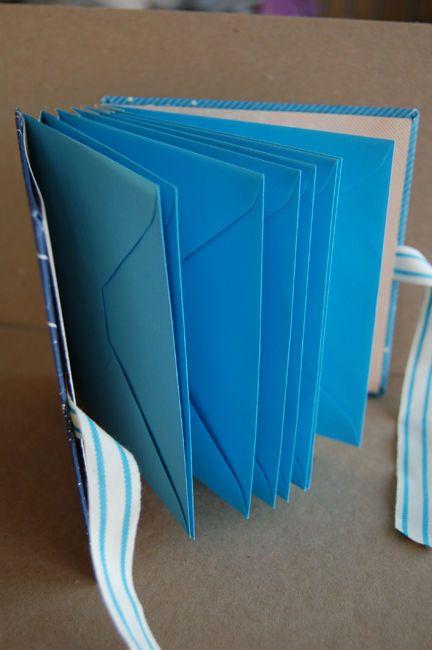 rilegatura di un libro con pagine/buste - envelope book binding tutorial