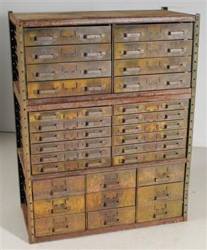 Vara: 3140307lådskåp/arkivskåp industridesign 1900-talets mitt