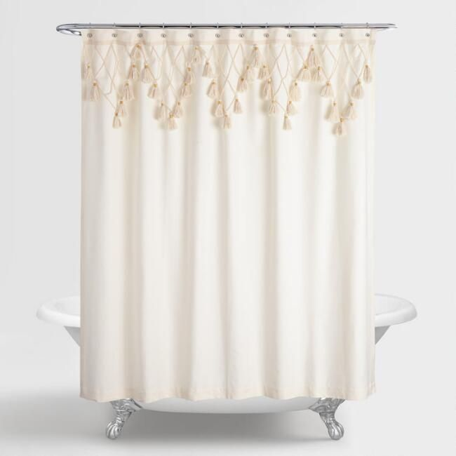 Our Exclusive Ivory Shower Curtain Will Add Just The Right Amount