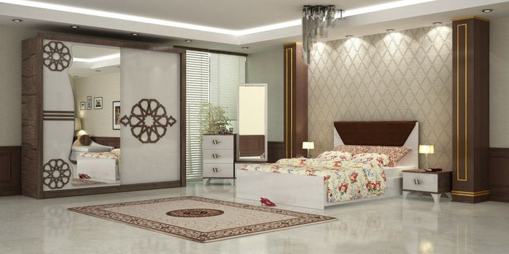 Roza Bedroom Furniture Sets Walnut 1-Turkey-Wholesale-Warehouse-Supplier