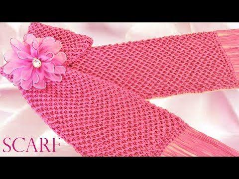 Haz crea diseña tu ropa teje una linda bufanda Make creates designs clothes cute knitting scarf - YouTube