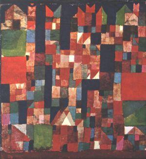 """""""Pittura di città con accenti rossi e verdi"""" 1921 Klee"""