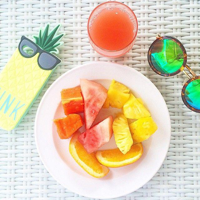 fruit, fresh, breakfast, sunglasses,