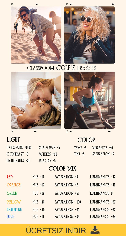 Zip I Indir Cole Nin Sinif Hazir Ayarlari In 2021 Lightroom Tutorial Photo Editing Adobe Lightroom Photo Editing Lightroom Presets Tutorial