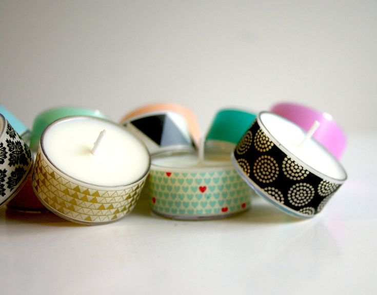 DIY – Velas pequeñas decoradas con washi tape