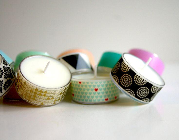 DIY – Velas pequeñas decoradas con washi tape