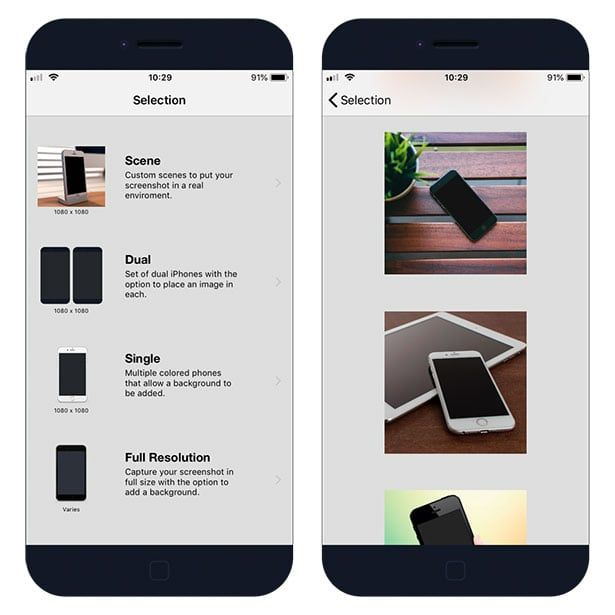 Screenshot App - put your screenshot on iPhone mockup