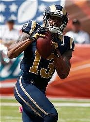 Chris Givens catches a pass against the Miami Dolphins 10-14-12
